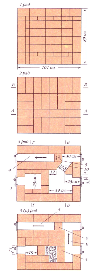 071912 2039 5 Печь со щитком (вариант 3)
