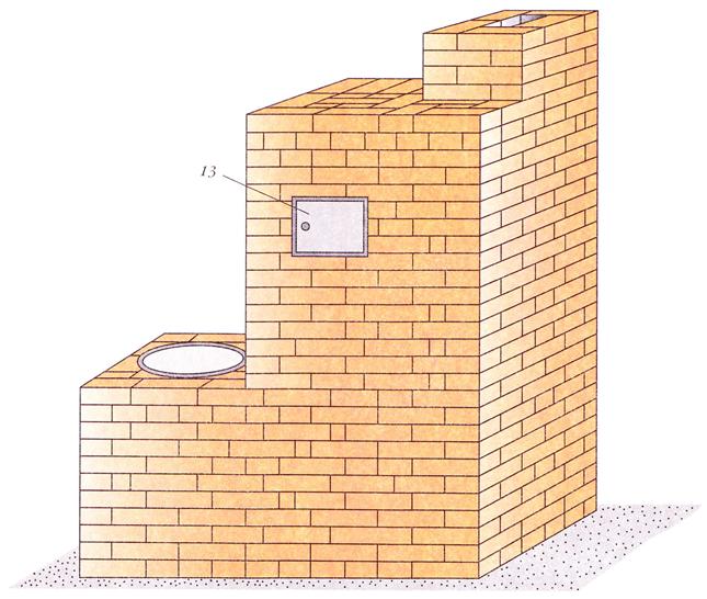 120412 1813 4 Печь с котлом и камерой каменкой