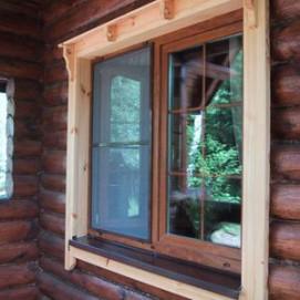 okna v bane 2 Монтирование оконных и дверных коробок деревянной бани