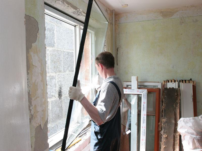 6 Когда во время ремонта устанавливать окна?