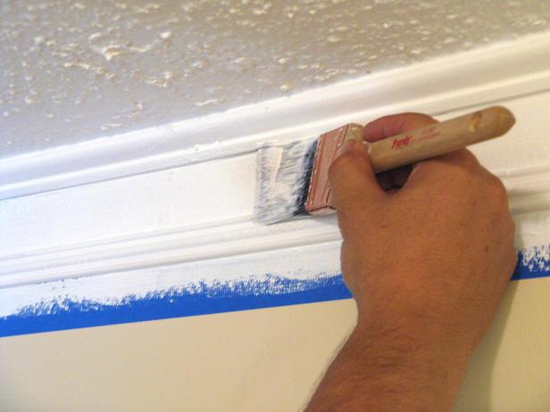 WkndProj 03 Painting s4x3 lg Поклейка потолочного плинтуса своими руками: основные правила