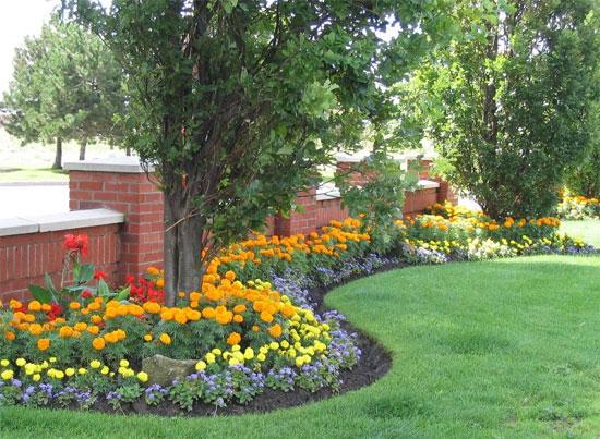 c3 Оформление цветников – несколько простых правил