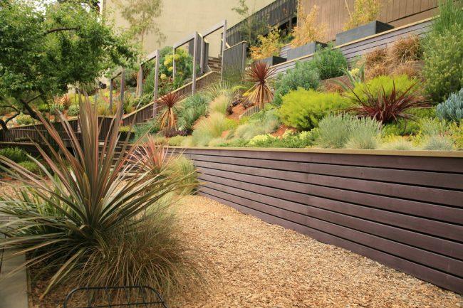 29 Подпорные стенки в ландшафтном дизайне