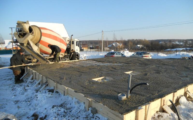 Зимние добавки к бетонам